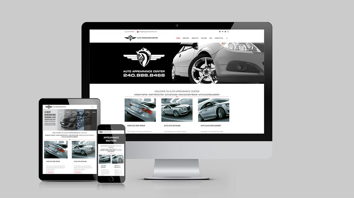 Website Design Sample - 3d Monitor with Website Screenshot